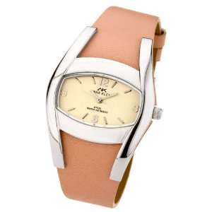 Anne Klein ladies pink leather strap and pink dial watch