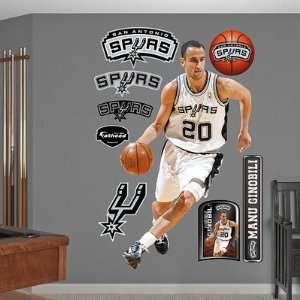 Manu Ginobili San Antonio Spurs Fathead NIB Everything