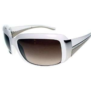 Prada SPR 01H Sunglasses White 4AO6S1 White Everything