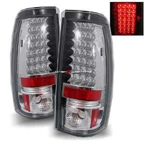 99 02 Chevy Silverado LED Tail Lights   Chrome Automotive