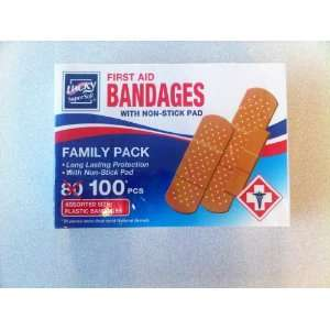First Aid Bandages (Adhesive Bandaids) with Non Stick Pad