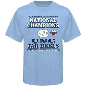 UNC) Carolina Blue 2009 NCAA Womens Soccer Division 1 Champs T shirt