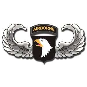 US Army 101st Airborne Jump Wings Decal Sticker 5.5