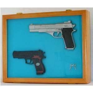 Pistol Airsoft Gun / Handgun display case shadow box, Lockable glass