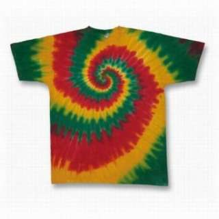 Youth Tie Dye Mania Rasta Tie Dye Short Sleeve T Shirt