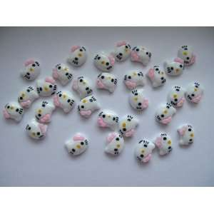 Nail Art 3d 30 Pieces PINK Hello Kitty for Nails, Cellphones 1.2cm*