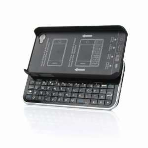 New Wireless Bluetooth Ultra thin Slide out Keyboard Case for Iphone 4