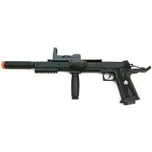 Spring Colt 1911 Pistol FPS 200, Silencer, Scope, Laser