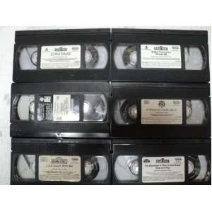 Sesame Street Kids and Children 6 Pack VHS Movies, Kiss