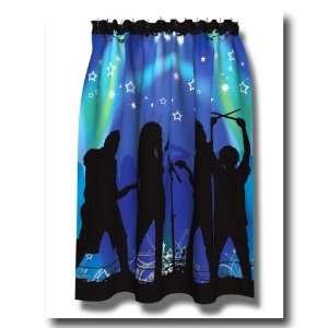 ROCK STAR kids music TEEN Idol SHOWER CURTAIN bath NEW