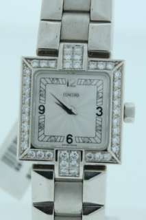 Concord La Scala, NEW 18k White Gold Diamond Watch.