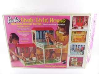 Vintage Mattel Barbie Lively Livin Doll House In Original Box