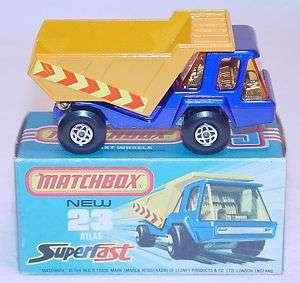 MATCHBOX Lesney Superfast ATLAS DUMPER TRUCK #23 MIB`74