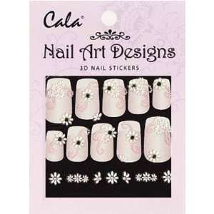 Cala Jeweled 3D Nail Art Stickers x2 Packs Flowers #86390 + FREE Aviva