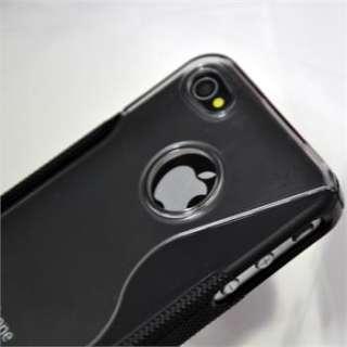 Black C2 Soft TPU Hard Plastic Back Case Cover Skin for iPhone 4 4G