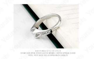 18K White Gold Plated Use Swarovski Crystal Simulation Diamond Wedding