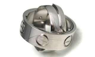 CARTIER 18k White Gold Astro Love Ring / Pendant