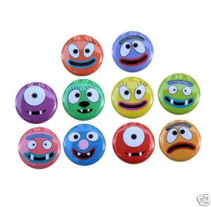 10 FUNNY FACES Buttons Pins Badges 1 Cartoon Silly