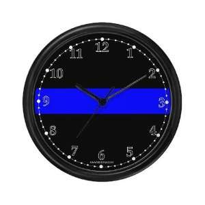 The Thin Blue Line Police Wall Clock by