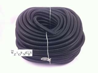 NEW SLT12 HIGH QUALITY 100 FEET 1/2 SPLIT LOOM WIRE TUBING BLACK