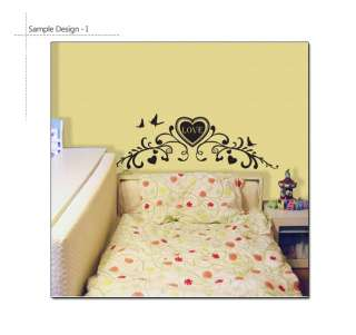 LOVE   Headboard Vinyl Art Wall Sticker Decal Bed Frame