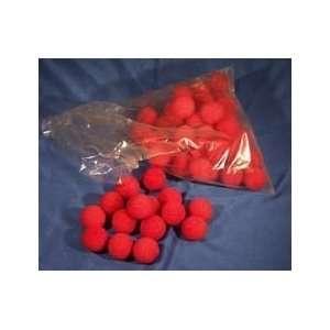 Sponge Balls   1.5 RED   Bag of 50   Magic Trick Toys & Games