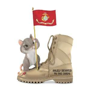 Charming Tails USMC Figurine Solely Devoted To The Corps