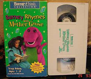 Barney & Friends Rhymes With Mother Goose Collection Vhs Video Great