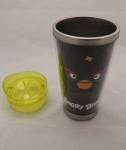 Rovio Angry Birds Sainless 12 Ounce Tumbler Travel Mug   BLACK