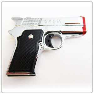1x Silver Twin Torch Shot Gun / Pistol Lighter Refillable