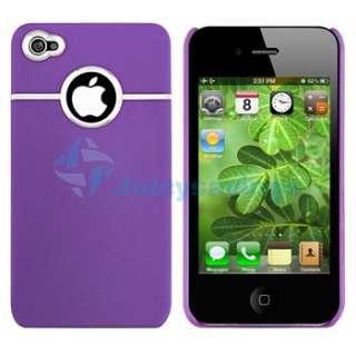 Purple +Pink Hard Chrome Skin Case For iPhone 4 4S 4G S Sprint Verizon