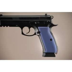 Hogue CZ 75   CZ 85 Aluminum   Matte Blue Anodized 75163