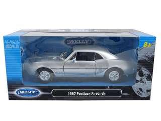 model of 1967 Pontiac Firebird Silver die cast car model by Welly