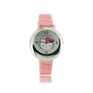 Hello Kitty Leather Band Kids Electronic Quartz Wrist Girl
