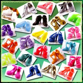 Lot of 20 Different Style Barbie Doll Shoes Pretty Gift