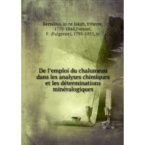 , 1779 1848,Fresnel, F. (Fulgence), 1795 1855, tr Berzelius: Books