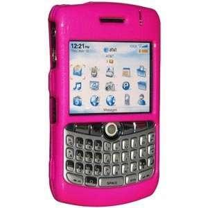 Polished Hot Pink Snap On Crystal Hard Case For Blackberry