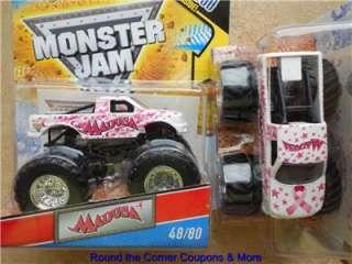 2011 Hot Wheels Monster Jam #48 MADUSA PINK Cancer Awareness Ribbon