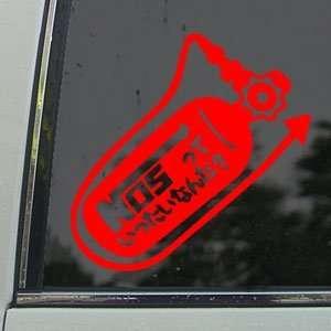 NOS Tank Nitro Racing Tokyo Drift Red Decal Car Red