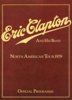 ERIC CLAPTON MUDDY WATERS 1979 Tour Concert Program Programme Cream