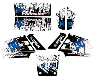 YAMAHA BANSHEE 350 DC SHOES GRAPHIC KIT VTT STICKER ATV DECAL QUAD