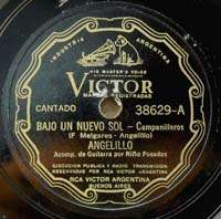 ANGELILLO Victor 38629 Bajo Un Nuevo Sol SPANISH 78 RPM