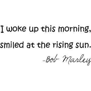 Woke up This Morning Bob Marley Style #2 Vinyl Wall Art Decal