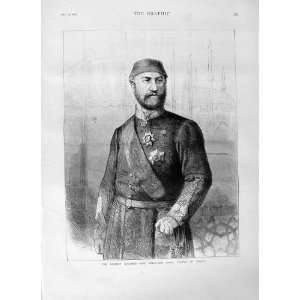 1876 PORTRAIT H.M. ABDUL AZIZ KHAN SULTAN TURKEY MAN: Home