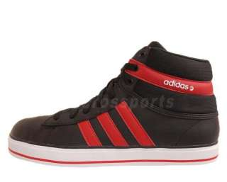 Adidas Neo Label Daily Fresh Mid Black Red 2012 Mens Casual Shoes
