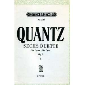 Six Duets for Two Flutes Op. 2, Book 2 Nos. 4 6, Edition