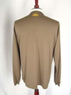 Mens Under Armour Long Sleeve Compression Shirt sz XXL tan brown