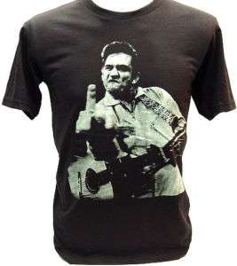 JOHNNY CASH BADA$$ Finger Flip Punk Rock VTG T Shirt M