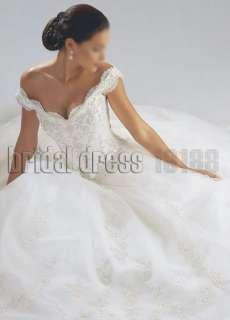 White/Ivory Off Shoulder Bride Gown/Wedding Dress