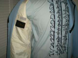 319 Mens Vtg 70s Mod Wedding Singer DISCO Tuxedo TUX Jacket Shirt